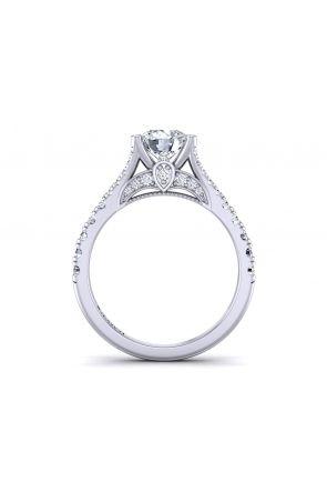 Princess inspired split shank pavé set  ring PR-1470CS-D PR-1470CS-D