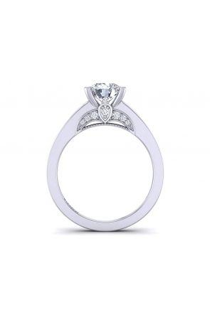 Modern minimalist diamond solitaire engagement ring PR-1470CS-E PR-1470CS-E