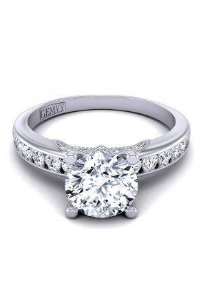 Channel set designer diamond engagement ring  PR1470-10 PR1470-10