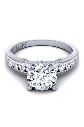 Minimalist simple designer diamond engagement ring PR1470-8 PR1470-8