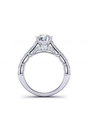 One- of-a- kind channel pavé set unique designer diamond setting  PRT-1470-TB PRT-1470-TB