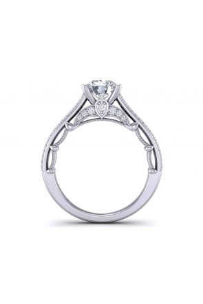 Three-row micro pavé cathedral diamond engagement ring  PRT-1470-TC. PRT-1470-TC.