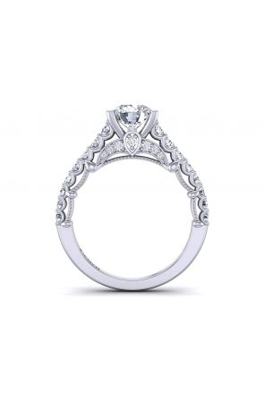 Contemporary luxury prong set  cathedral engagement ring  PRT-1470-TK PRT-1470-TK
