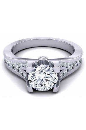 Modern channel-set elegant gold/platinum 2.8mm engagement ring SW-1070-D SW-1070-D