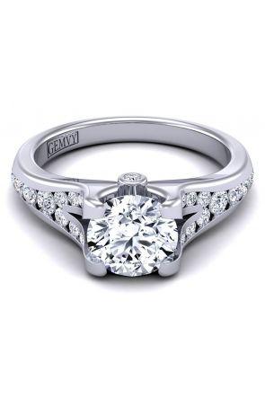 Modern swan inspired designer channel set diamond ring SW-1070-J SW-1070-J