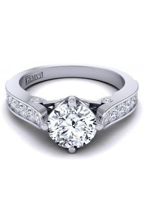 Modern vintage style pavé set diamond engagement ring SW-1437-F SW-1437-F