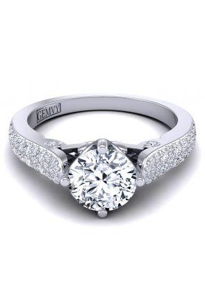 Micro pavé Art nouveau designer diamond engagement anniversary ring SW-1437-G SW-1437-G