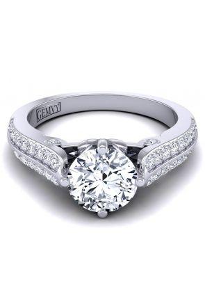 Two row pavé set custom diamond setting SW-1437-H SW-1437-H