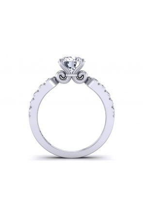 Unique channel set artistic diamond engagement ring SW-1440-F SW-1440-F