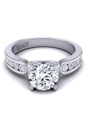 Round custom channel set diamond engagement ring SW-1440-H SW-1440-H-1