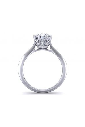 Petite channel set one-of-a-kind diamond engagement ring SW-1450-J SW-1450-J