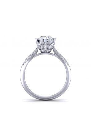Unique micro pavé prong set round cut diamond ring SW-1450-K SW-1450-K