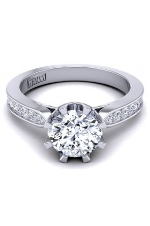 Tapered channel pavé petite diamond engagement ring SW-1450-P SW-1450-P