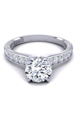 Elegant modern pavé set engagement ring. SWAN-1176-C SWAN-1176-C