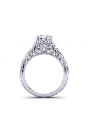 Double twisted band swan inspired pavé set  engagement ring SWAN-1178-SC SWAN-1178-SC