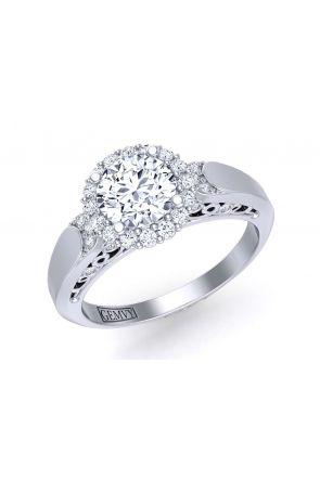 Unique elegant plain band halo diamond setting TEND-1180-HJ TEND-1180-HJ