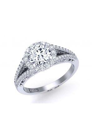 Exquisitely designed split shank halo diamond setting TEND-1180-HL TEND-1180-HL
