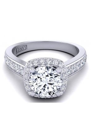Round 1-3 carat modern round diamond ring setting TLP-1200H-EH TLP-1200H-EH