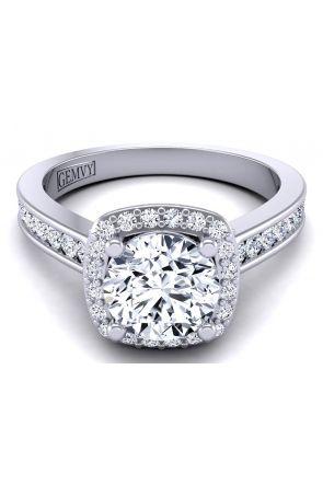 2.5mm band custom designed pavé set halo wedding ring TLP-1200H-GH TLP-1200H-GH