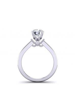 Simple modern designer solitaire pavé engagement ring TLP-1200S-AS TLP-1200S-AS