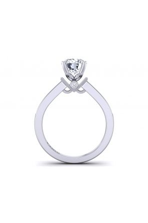 3mm two-row micro pavé gold diamond engagement ring TLP-1200S-ES TLP-1200S-ES
