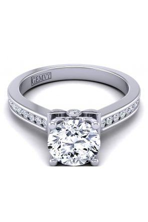 2.3mm band petite modern designer diamond setting TLP-1200S-FS TLP-1200S-FS