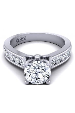 3.6mm round channel-set modern diamond engagement ring setting TLP-1200S-GS TLP-1200S-GS