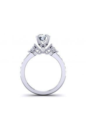 3mm three-stone 18k diamond engagement ring. TLP3-1200-B3 TLP3-1200-B3