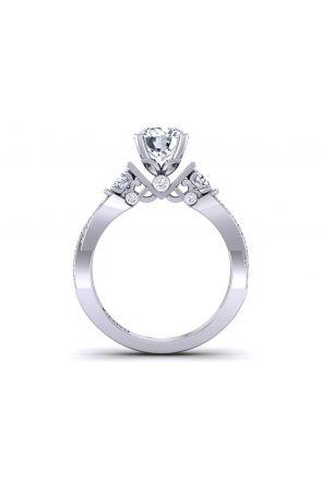 Bold twisted shank 3-stone pavé diamond setting TLP3-1200-F3 TLP3-1200-F3