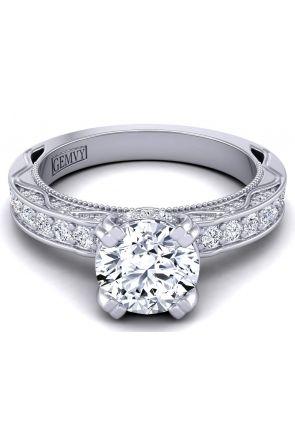 Pavé set modern vintage style designer diamond setting. WIST-1510S-AS WIST-1510S-AS