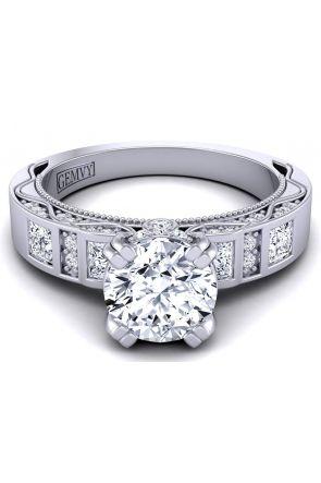 Bold princess channel-set designer engagement ring WIST-1510S-CS WIST-1510S-CS