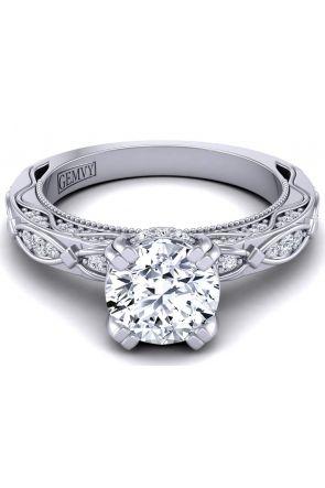 Vine inspired artisan diamond engagement ring WIST-1510S-JS WIST-1510S-JS