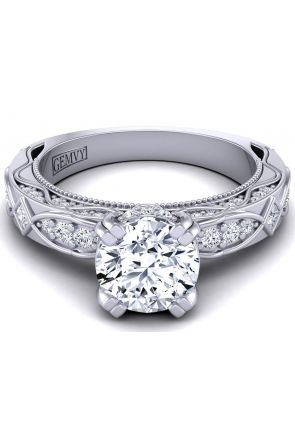 One-of-a kind unique vine inspired engagement ring WIST-1510S-KS WIST-1510S-KS