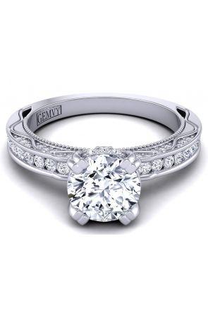 Petite round channel -set modern diamond engagement ring WIST-1510S-MS WIST-1510S-MS