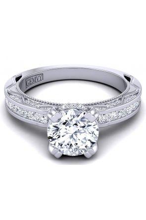 Princess cut channel set modern designer diamond ring WIST-1510S-PS WIST-1510S-PS