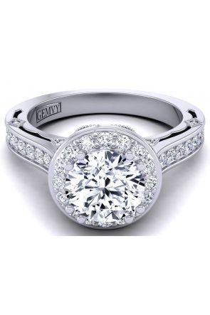 Designer modern vintage milgrain engagement ring WIST-1517-E WIST-1517-E