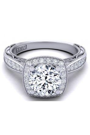Half-band tapered designer diamond engagement ring setting WIST-1529-HH WIST-1529-HH