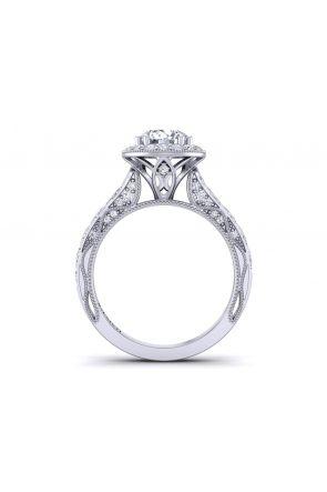 Floral vintage style pavé halo engagement ring WIST-1529-HM WIST-1529-HM