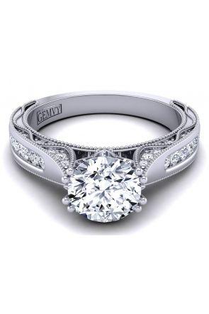Custom channel set modern diamond engagement ring setting WIST-1529-SD WIST-1529-SD