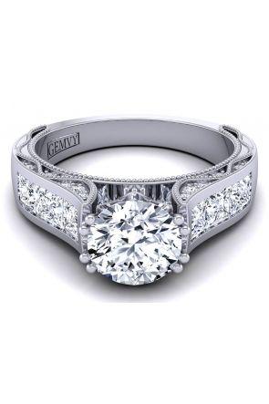 Bold Princess channel set diamond engagement ring setting WIST-1529-SF WIST-1529-SF