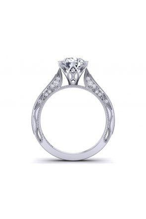 Tapered detailed beautiful halo diamond engagement ring WIST-1529-SG WIST-1529-SG