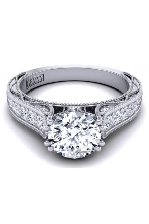 Beautiful and unique custom diamond engagement ring. WIST-1529-SJ WIST-1529-SJ