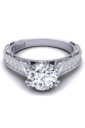Knife-edge modern vintage designer engagement ring WIST-1529-SL WIST-1529-SL