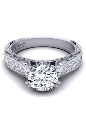 Bold beautiful bespoke diamond wedding ring setting WIST-1529-SP WIST-1529-SP
