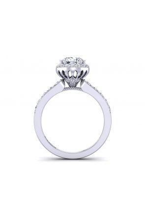 Petite Halo micro pavé diamond engagement Ring WIST-1538-A WIST-1538-A