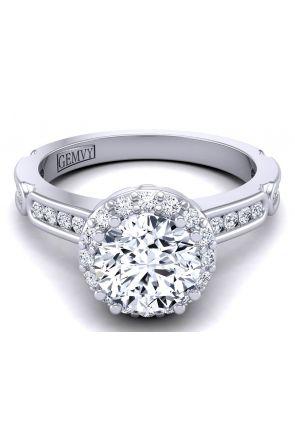 Unique Channel set modern designer diamond engagement ring WIST-1538-C WIST-1538-C