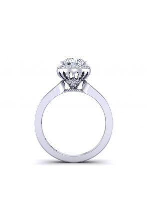Modern unique princess cut channel set diamond engagement ring WIST-1538-E WIST-1538-E