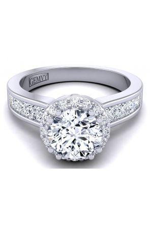 Modern princess cut channel set custom ring WIST-1538-G WIST-1538-G