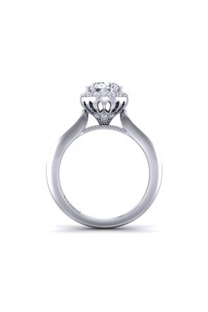 Exquisite tapered band custom halo engagement ring WIST-1538-H WIST-1538-H