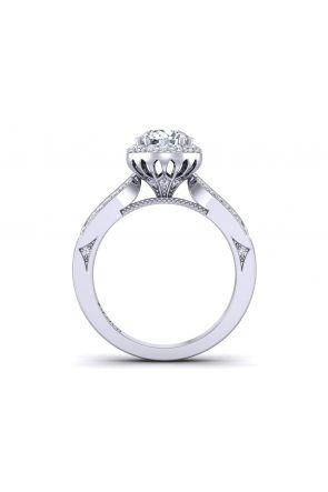 Unique bold two row pavé diamond engagement ring WIST-1538-L WIST-1538-L